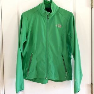 Green, water resistant, North Face Jacket.